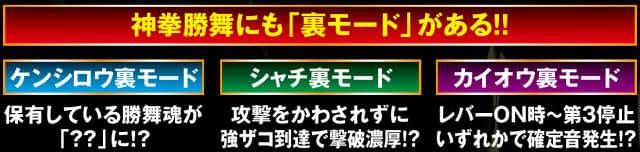 パチスロ北斗の拳 修羅の国篇の神拳勝舞の裏モードの紹介