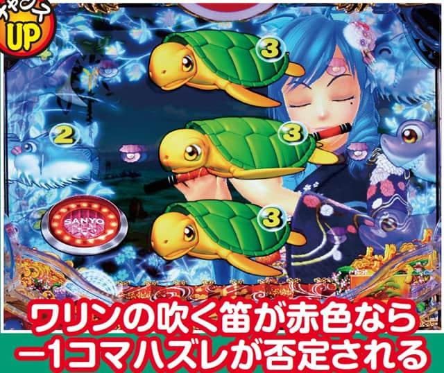 スーパー海物語 IN JAPAN 横笛リーチ 信頼度