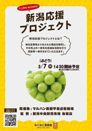 3月7日(日)【新潟応援プロジェクト】14:30販売開始予定