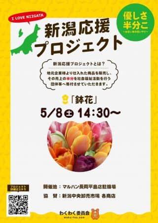 5/8(土)新潟応援プロジェクト 鉢花販売14:30開始予定