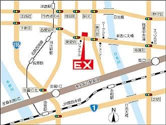 愛知県 パーラーEX 津島市杁前町 案内図
