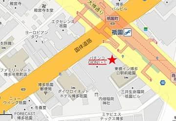 福岡県 祇園1・1 福岡市博多区祇園町 案内図