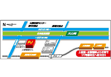 京都府 スロット専門店 長岡ジャンボ 長岡京市馬場 案内図