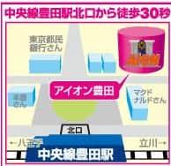 東京都 アイオン豊田店 日野市多摩平 案内図