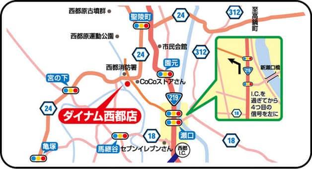宮崎県 ダイナム宮崎西都店 西都市三宅 案内図