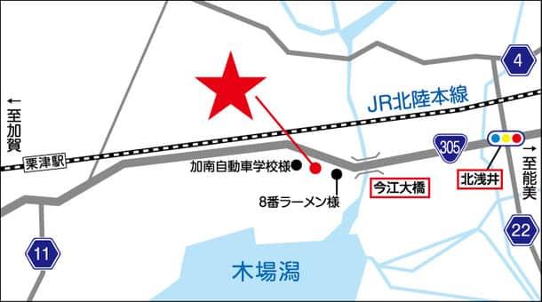 石川県 ダイナム石川小松店 小松市今江町 案内図