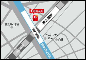 大阪府 ベラジオ西九条 大阪市此花区西九条 案内図