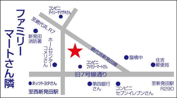 新潟県 ダイナム新発田店 新発田市舟入町 案内図