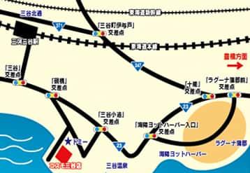 愛知県 コスモジャパン三谷店 蒲郡市三谷町 案内図