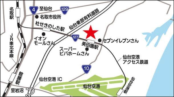 宮城県 ダイナム宮城名取美田園店 名取市美田園 案内図