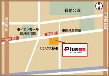 大阪府 ベラジオPlus鶴見店 大阪市鶴見区横堤 案内図