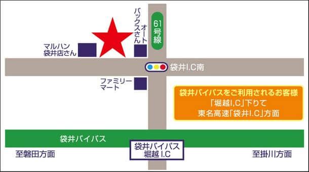 静岡県 ダイナム静岡袋井店 袋井市堀越 案内図