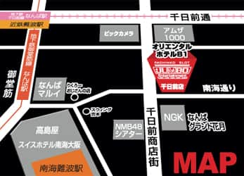 大阪府 ジャンボ千日前 大阪市中央区千日前 案内図
