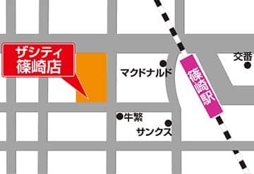 東京都 BELLE CITY THE CITY 篠崎店 江戸川区篠崎町 案内図