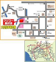 静岡県 フジコー長伏店 三島市長伏 案内図