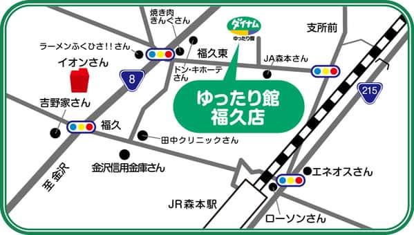 石川県 ダイナム石川福久店 金沢市南森本町 案内図