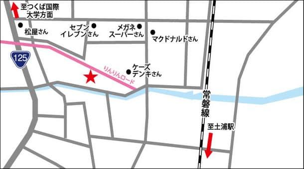 茨城県 ダイナム茨城土浦店 土浦市真鍋 案内図