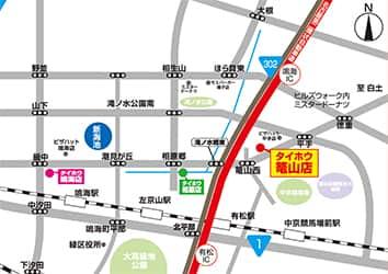 愛知県 タイホウ篭山店 名古屋市緑区篭山 案内図