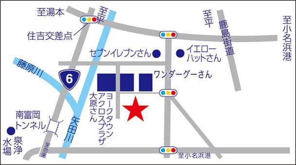 福島県 ダイナム小名浜店 いわき市小名浜大原 案内図