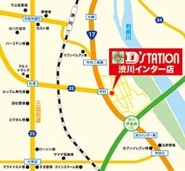 群馬県 D'ステーション渋川インター店 渋川市中村 案内図