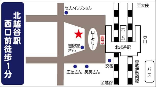 埼玉県 ダイナム北越谷店 越谷市北越谷 案内図