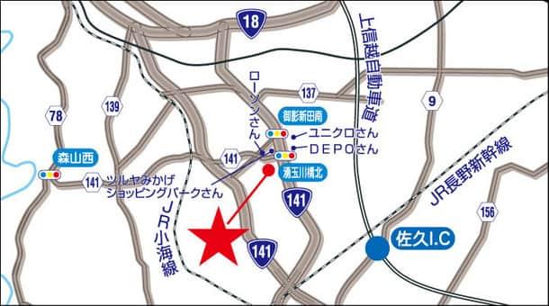 長野県 ダイナム長野小諸店 小諸市和田 案内図