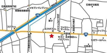 宮城県 JOYPARK石巻店 石巻市築山 案内図