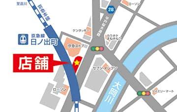 神奈川県 パラッツォ日ノ出町店 横浜市中区日ノ出町 案内図