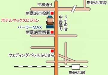 愛媛県 パーラーマックス 新居浜市久保田町 案内図