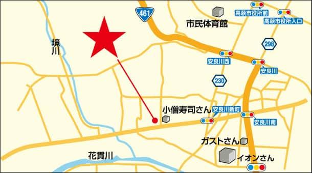 茨城県 ダイナム茨城高萩店 高萩市安良川 案内図