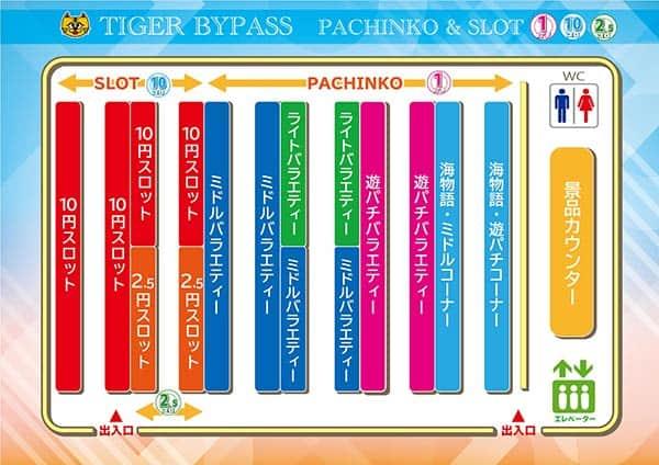 長崎県 タイガーバイパス店 諫早市新道町 案内図