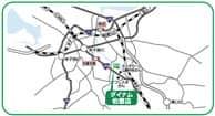 鳥取県 ダイナム鳥取伯耆店 西伯郡伯耆町大殿 案内図