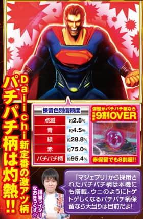 CR SUPERMAN ~Limit・Break~の保留色別信頼度表