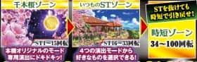 スーパー海物語IN沖縄4 桜バージョン SCAの千本桜ゾーン、いつものSTゾーン