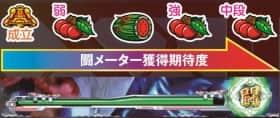 闘メーターの ゲージが貯まると 色が1段階アップ!