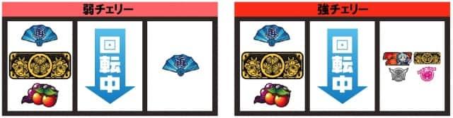 戦コレ徳川家康のチャンス役停止系(弱チェリー、強チェリー)