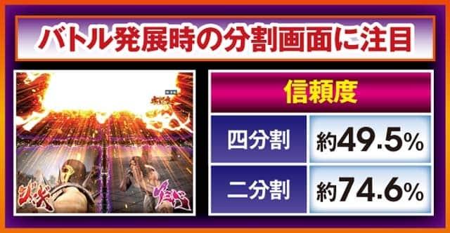 ぱちんこ北斗の拳8の究極神拳RUSH中のチャンスアップ