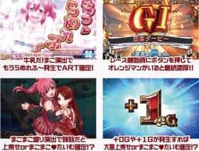 GI 優駿倶楽部のART突入・継続・上乗せが確定する演出(特化ゾーン含む)