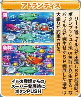 大海物語スペシャル MTE15の魚群出現モード(アトランティス)の紹介