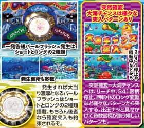 大海物語スペシャル MTE15のリーチ演出の紹介