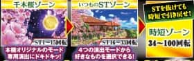 スーパー海物語IN沖縄4 桜バージョン STBの千本桜ゾーン、いつものSTゾーン