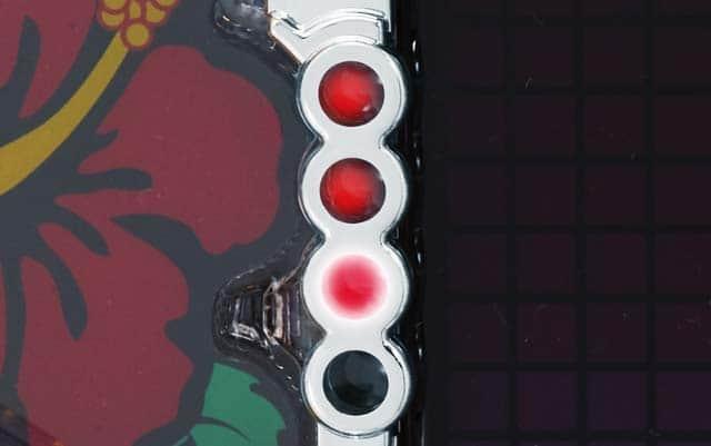 モモキュン ドラム 甘の保留ランプ