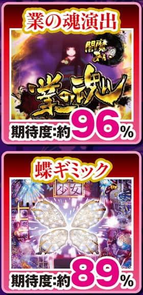地獄少女 弐 きくりの地獄祭り 4大チャンス 業の魂 蝶ギミック