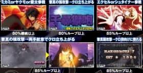 黒神 The AnimationのBGB中の継続率示唆パターン
