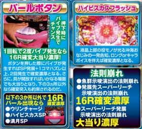 CRスーパー海物語IN沖縄4の新ギミックのモード共通演出と大当り濃厚の法則崩れの紹介