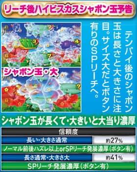 CRスーパー海物語IN沖縄4のハイビスカスモード中・予告アクションの信頼度の一覧表