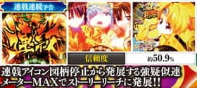 CR戦国乙女~花~の連戟連続予告の紹介