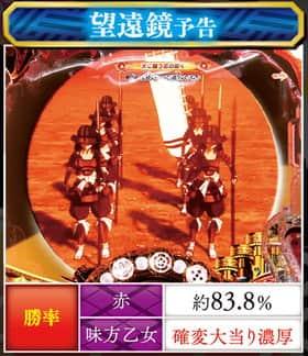 CR戦国乙女~花~の望遠鏡予告の紹介