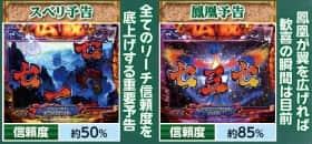 SUPER電役ドラゴン伝説のドラゴンモード中の予告演出の信頼度の紹介
