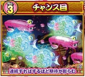 スーパー海物語 IN JAPAN 予告 演出 チャンス目